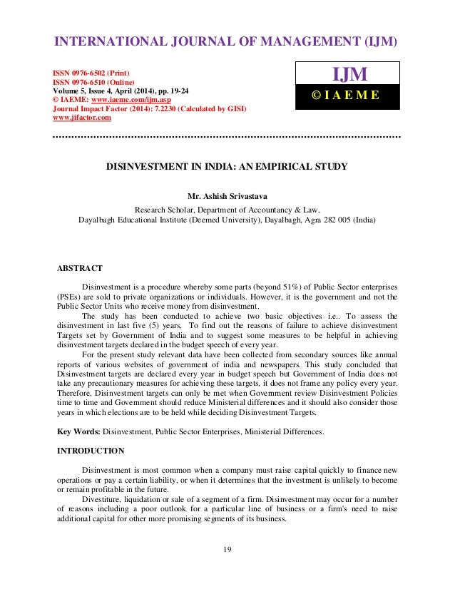 International Journal of Management (IJM), ISSN 0976 – 6502(Print), ISSN 0976 - 6510(Online), Volume 5, Issue 4, April (20...