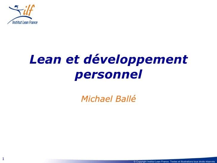 Lean et développement personnel