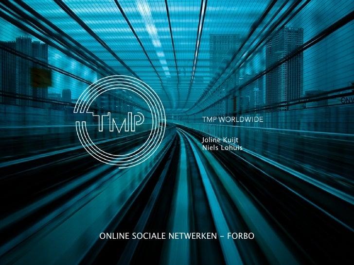 Presentatie online sociale netwerken voor stagiaires Forbo