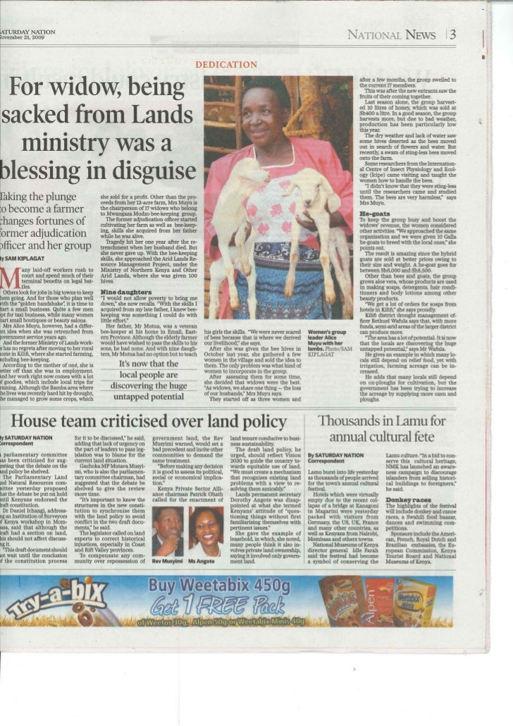 For Mama Alice Kasika being sacked from Lands was a blessing