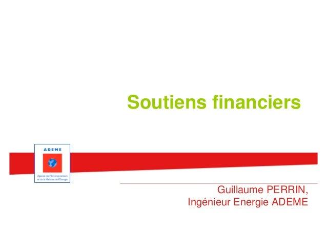 Assises des EnR en milieu urbain 2012 - Soutiens financiers