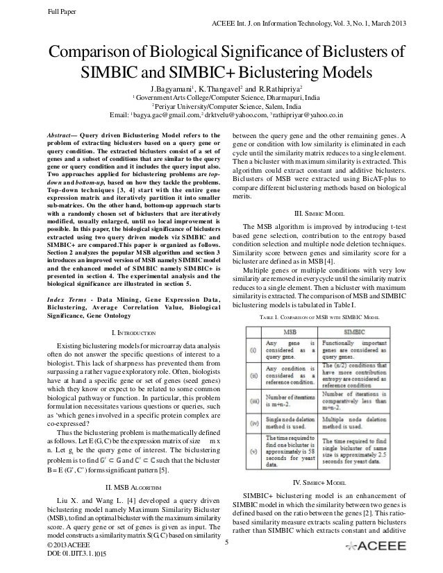 Comparison of Biological Significance of Biclusters of SIMBIC and SIMBIC+ Biclustering Models