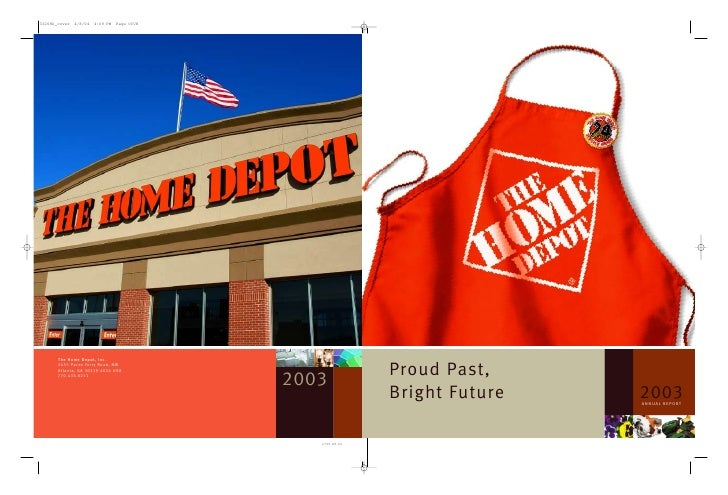 home depot Annual Report 2003