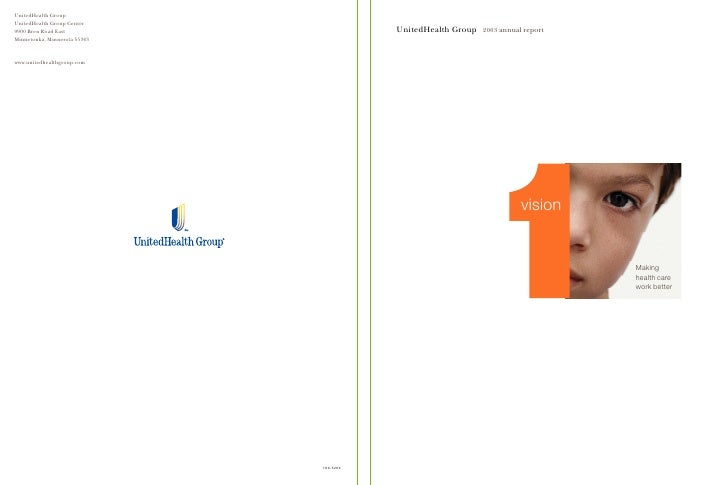 UnitedHealth Group   2003 annual report                                     vision                                        ...