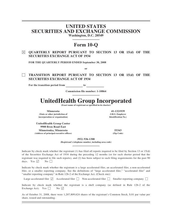 United Health Group [PDF Document] Form 10-Q