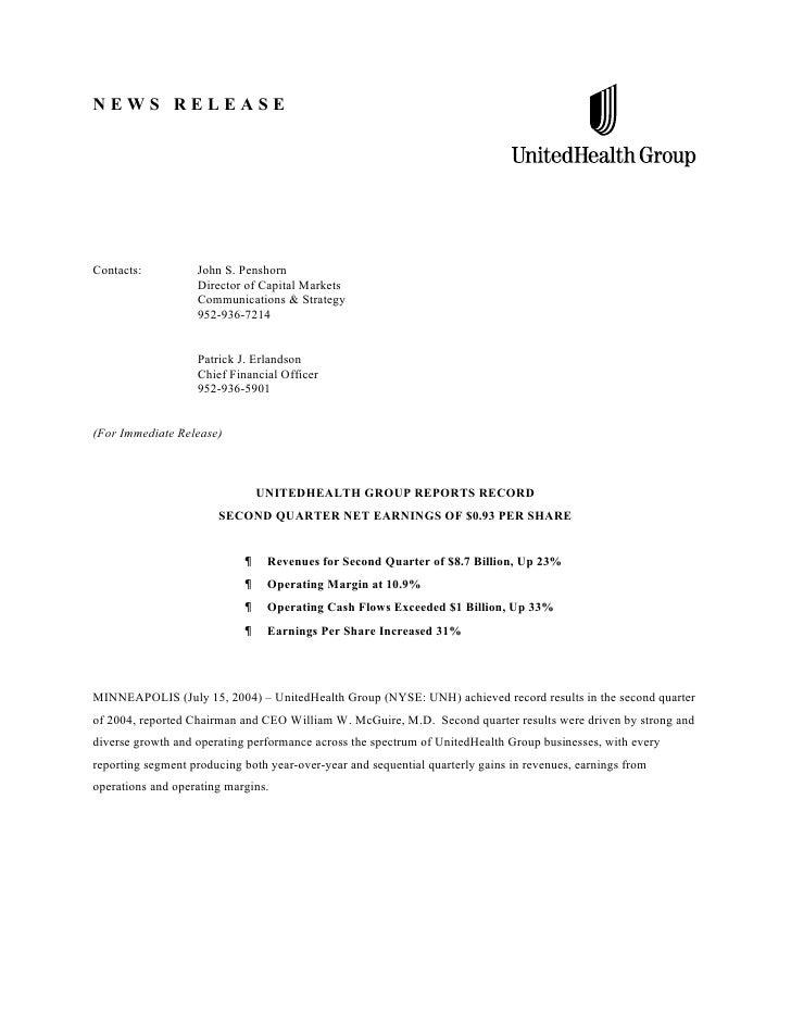 NEWS RELEASEContacts:          John S. Penshorn                   Director of Capital Markets                   Communicat...