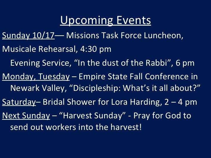 Week of Oct 17