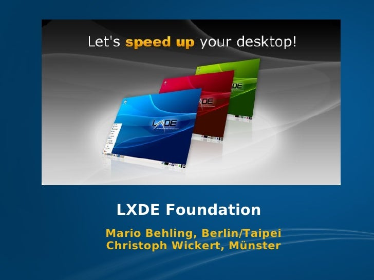 LXDE Presentation at FOSDEM 2009