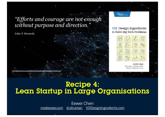 101 Design Ingredients: A Recipe For Lean Startup In Large Organisations
