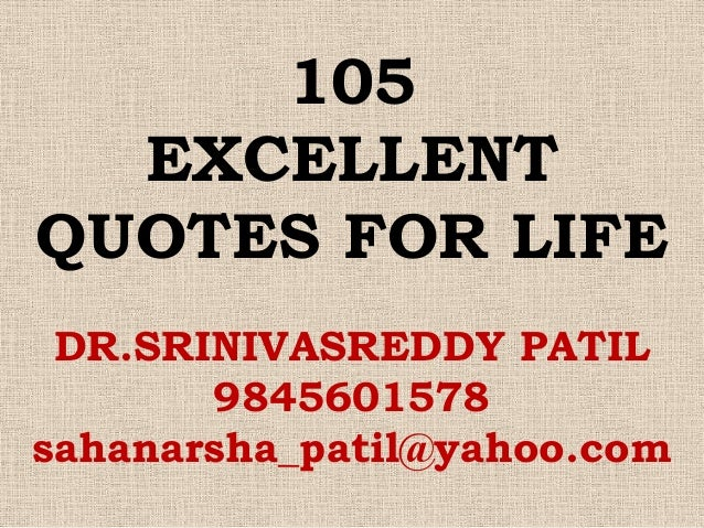 101 excellent quotes for life
