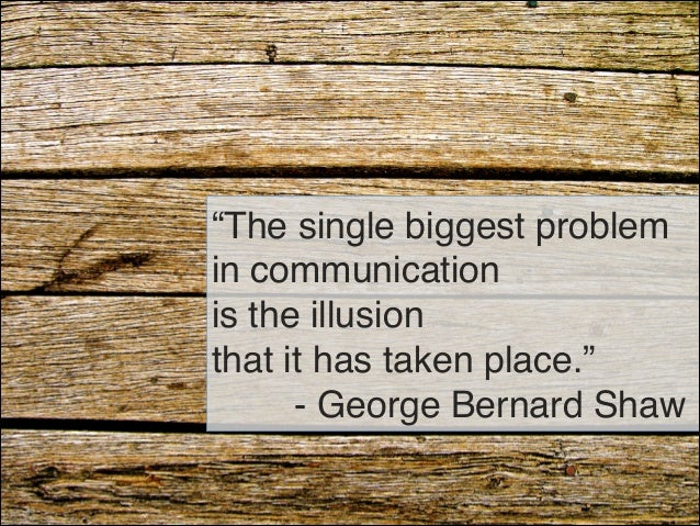 What do you see is the biggest problem in people and communication essay?