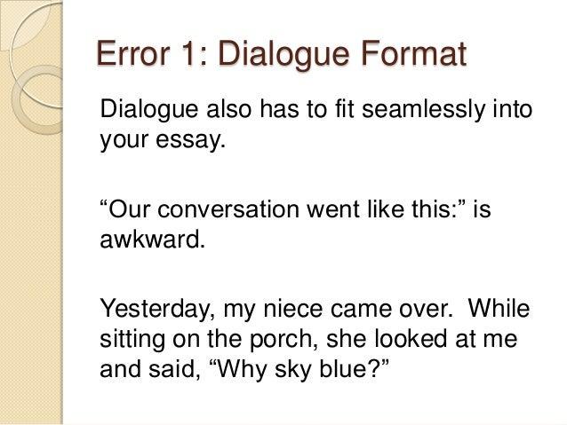 Conversation essay english