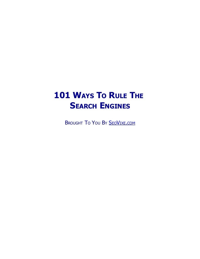 101 seo tips for 2013