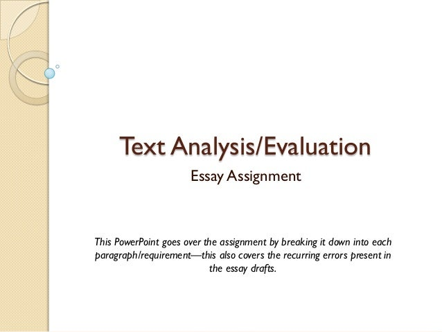 textual analysis essay definition