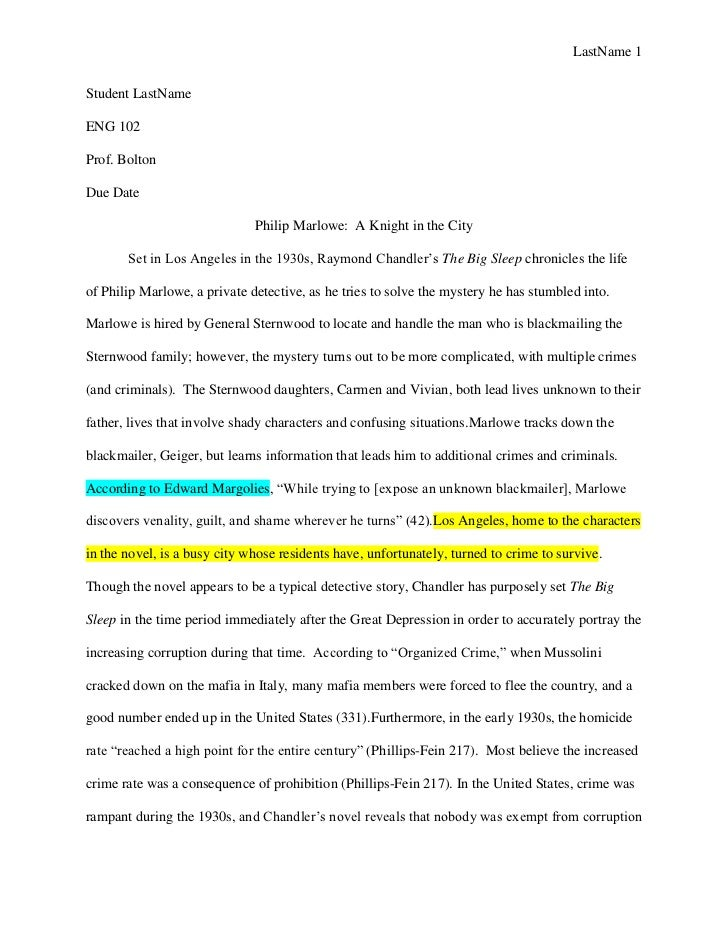 Literature research paper example