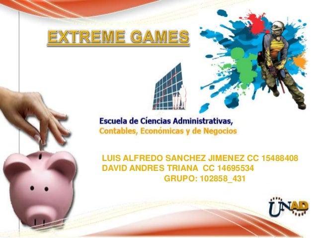 LUIS ALFREDO SANCHEZ JIMENEZ CC 15488408DAVID ANDRES TRIANA CC 14695534            GRUPO: 102858_431