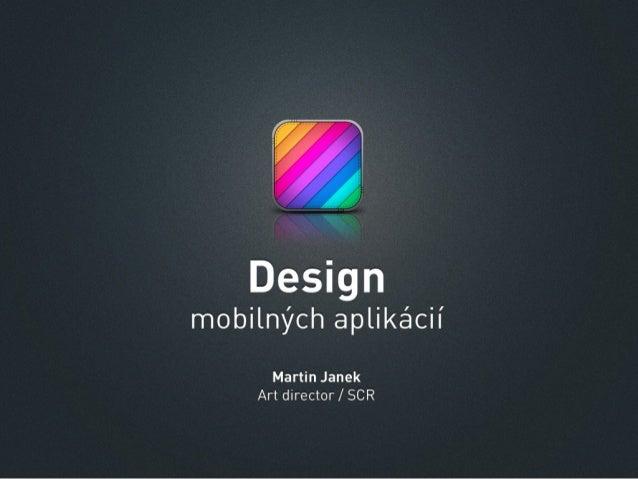 Design mobilnych aplikacii