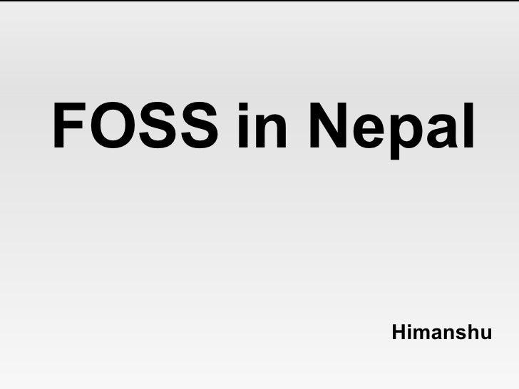 Open Source In Nepal