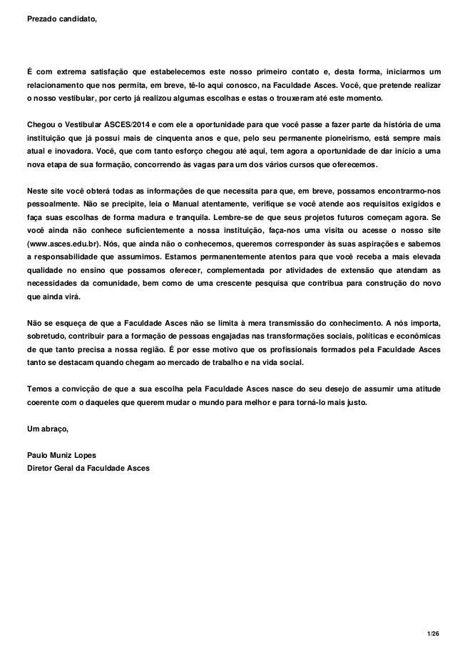 Vestibular 2014 UFPE - ASCES