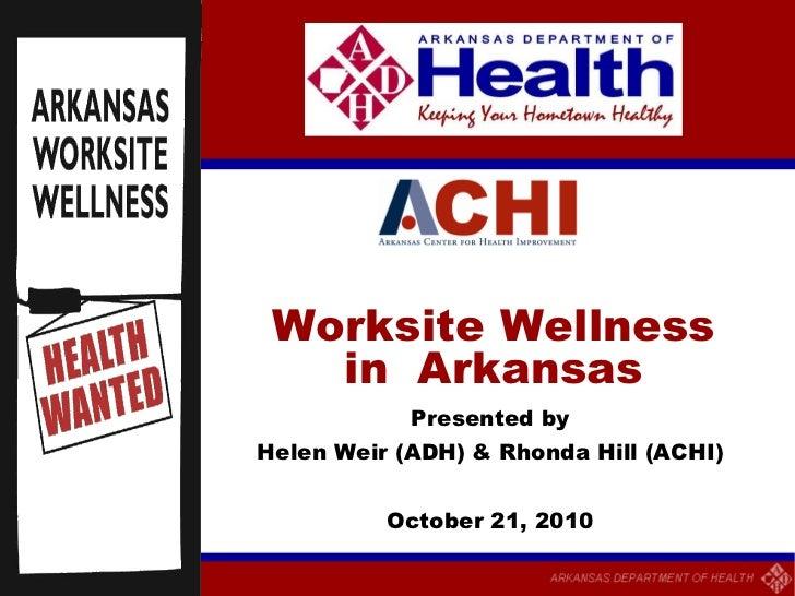 State of Wellness: Arkansas