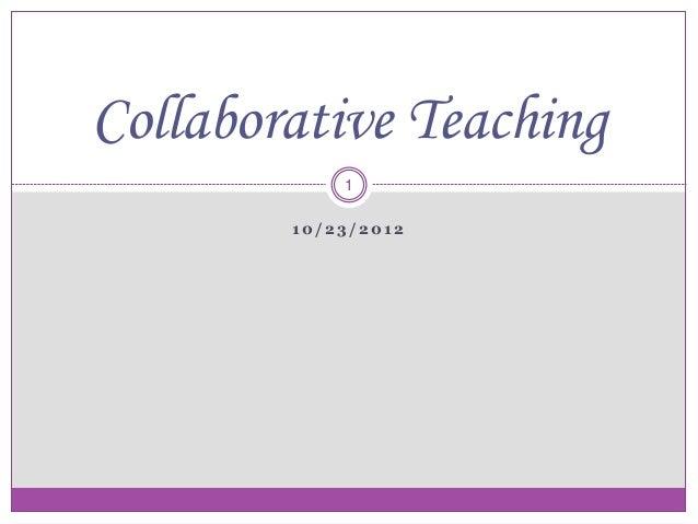 Collaborative Teaching Strategies ~ Collaborative teaching