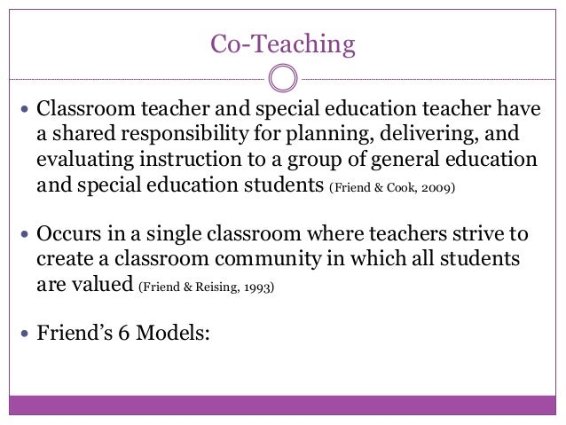 Collaborative Teaching With Special Education ~ Collaborative teaching