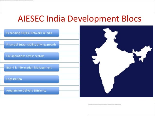 AIESEC India Development BlocsExpanding AIESEC Network in IndiaFinancial Sustainability driving growthCollaborations acros...