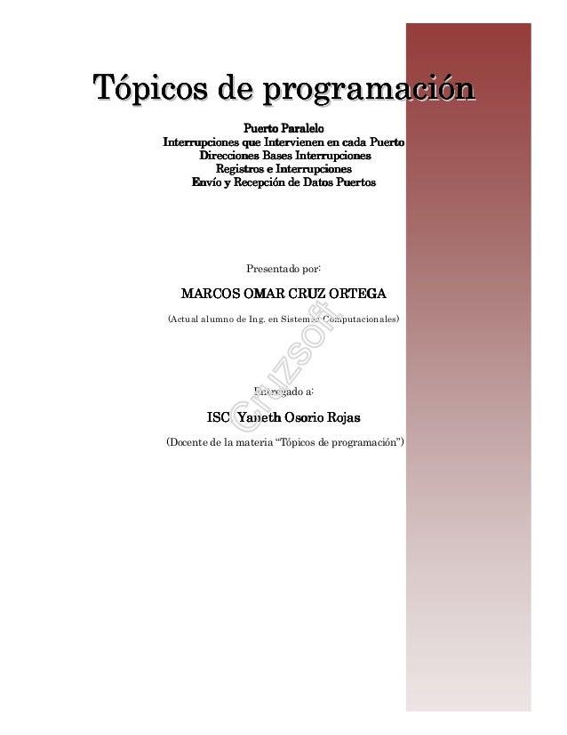 Programacion de puertos e interrupciones
