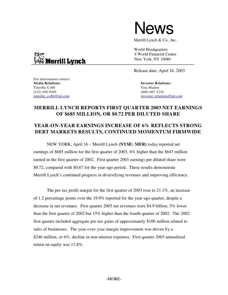 News                                                          Merrill Lynch & Co., Inc.                                   ...