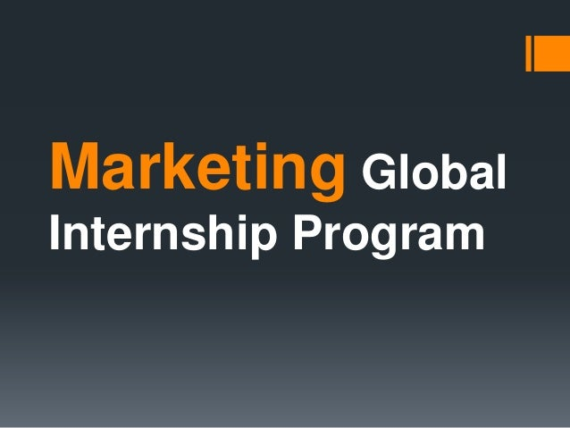 Marketing GlobalInternship Program