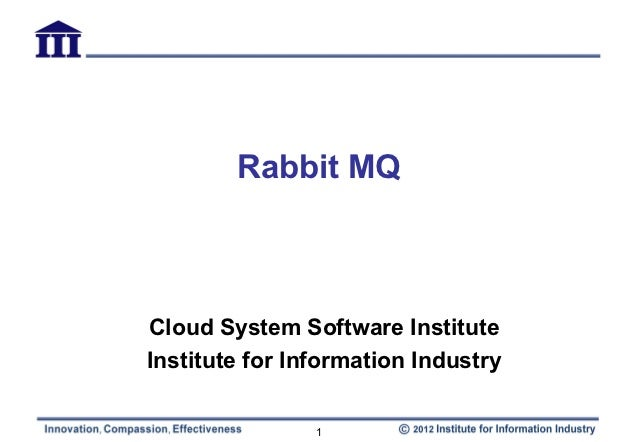 Rabbit MQCloud System Software InstituteInstitute for Information Industry                1