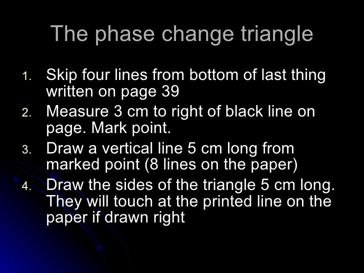 Triangle Changes The Phase Change Triangle
