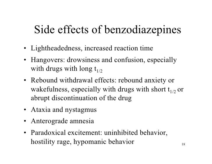 diazepam side effects paradoxically split