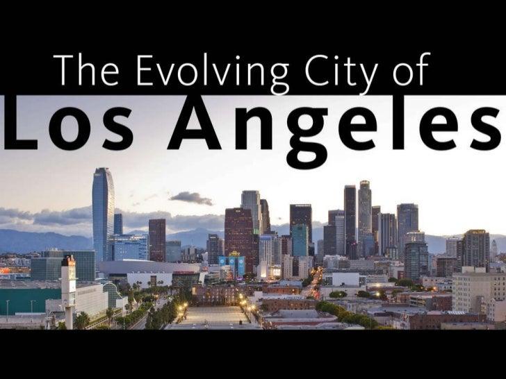 The Evolving City of Los Angeles (Robert Jernigan) - ULI fall meeting - 102711