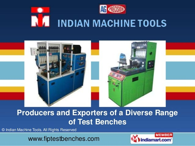 CRDI Injector & Pump Testers by Indian Machine Tools New Delhi