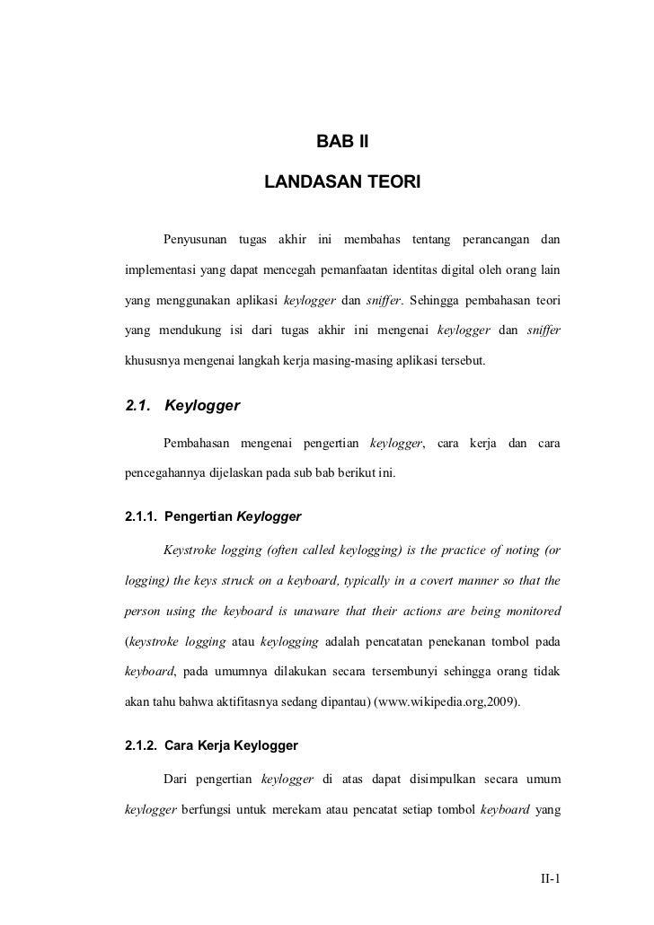 BAB II                         LANDASAN TEORI       Penyusunan tugas akhir ini membahas tentang perancangan danimplementas...