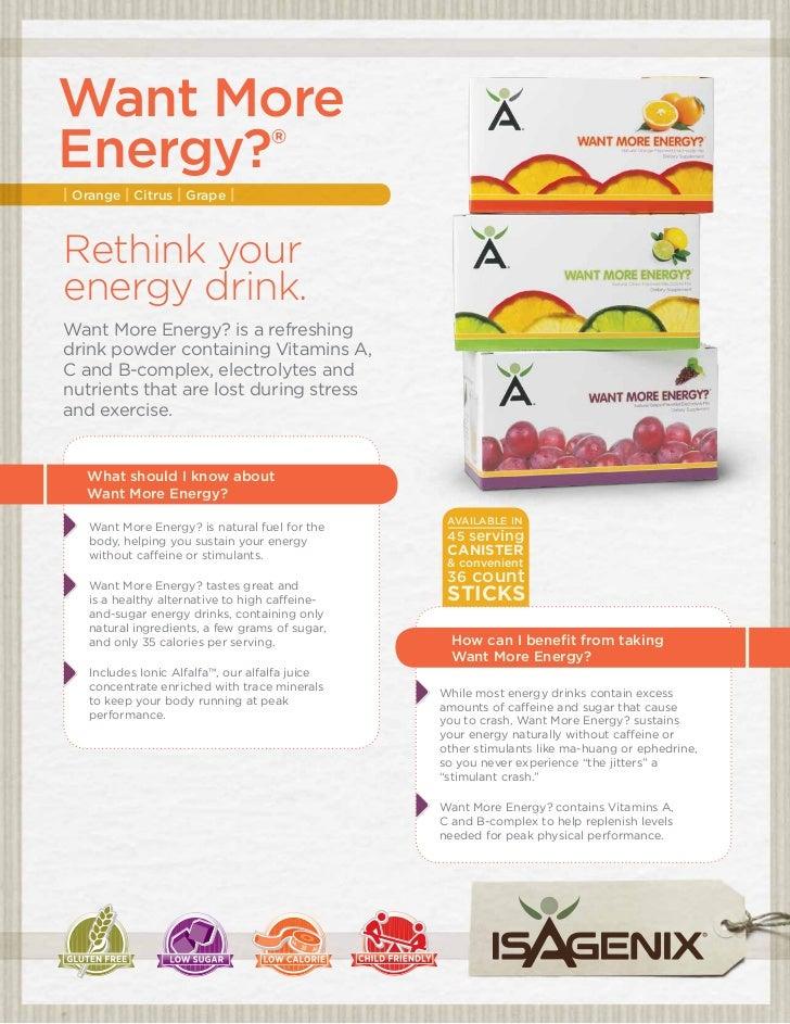 Want More energy?®     | Orange | Citrus | Grape |     Rethink your     energy drink.     Want More Energy? is a refreshin...