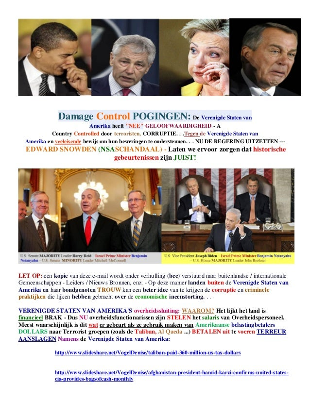 UNITED STATES - DAMAGE CONTROL TACTICS - CREDIBILITY ISSUES (dutch)