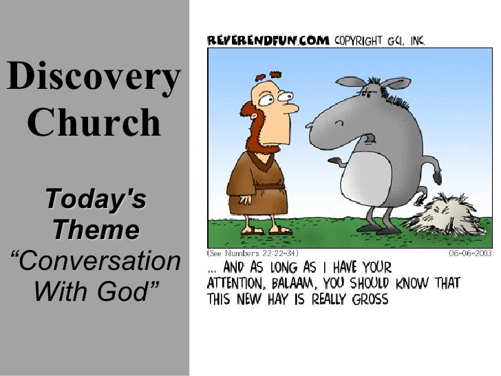 """Discovery Church Today's Theme """" Conversation  With God"""""""
