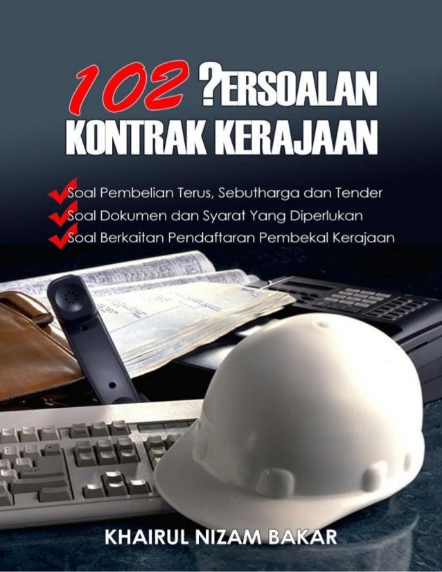 102 persoalan kontrak kerajaan