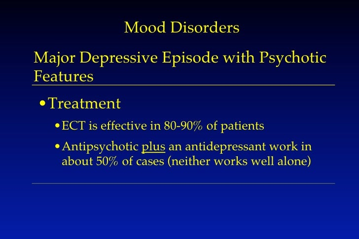 Major depressive disorder with psychotic features