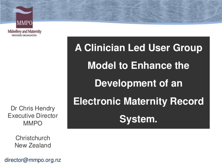 A Clinician Led User Group                          Model to Enhance the                           Development of an      ...