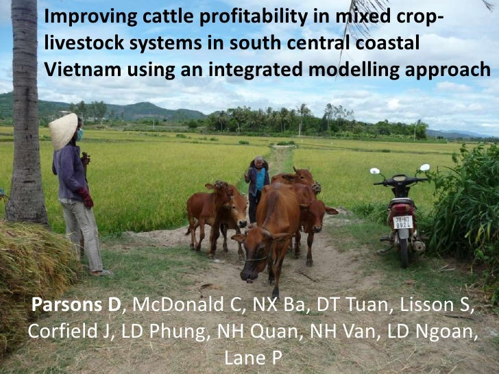 Improving cattle profitability in mixed crop- livestock systems in south central coastal Vietnam using an integrated model...