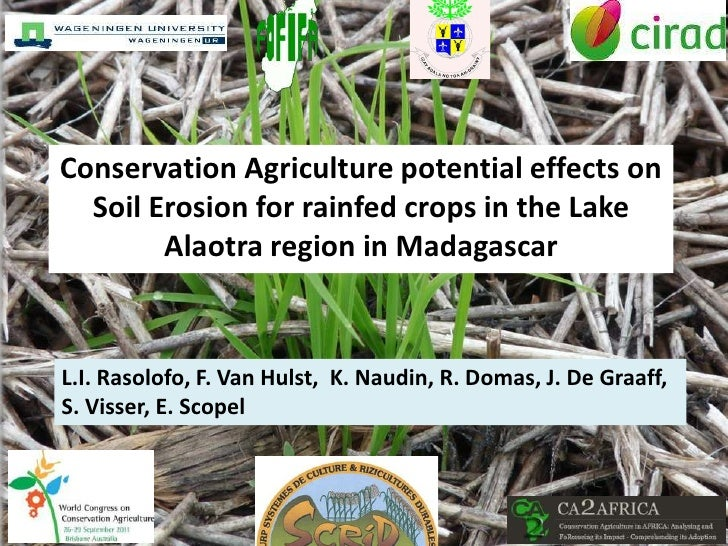 Conservation Agriculture potential effects on  Soil Erosion for rainfed crops in the Lake        Alaotra region in Madagas...