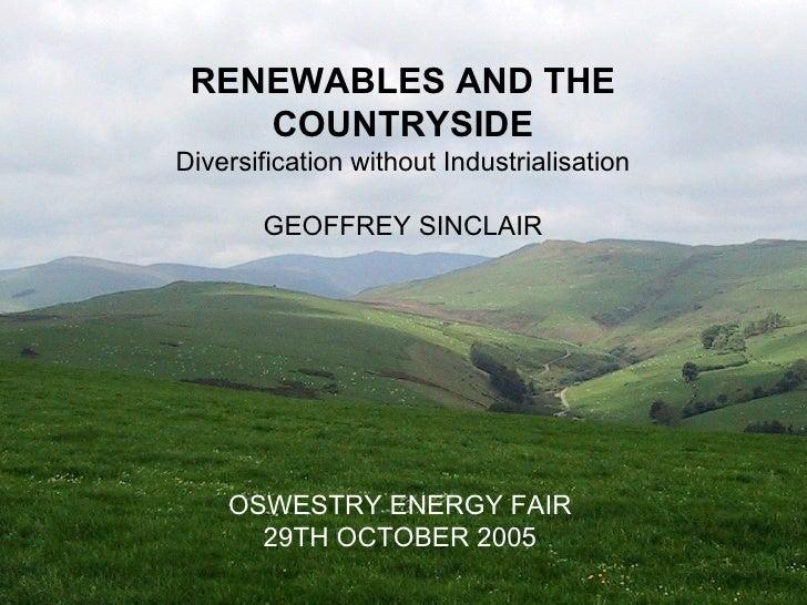 Oswestry Energy Fair -  Geoff Sinclair