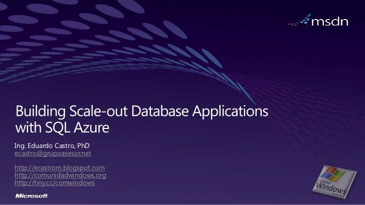 SQL Azure Federation and Scalability