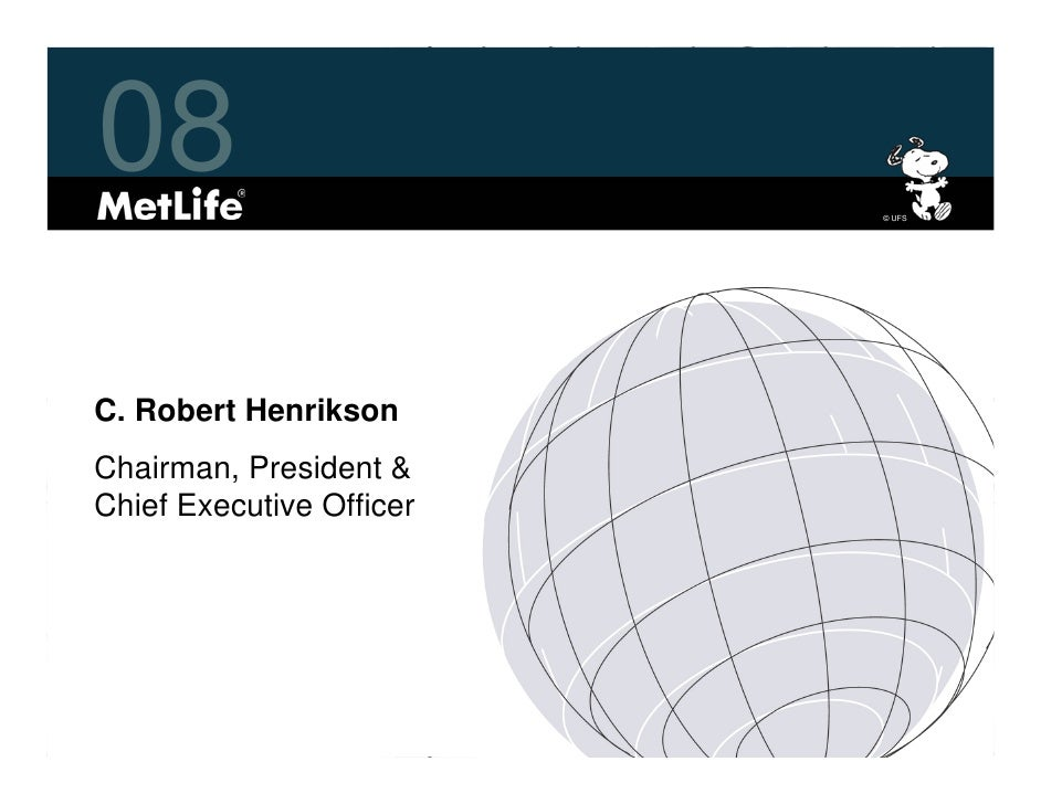 metlife Investor Day 2008 Overview