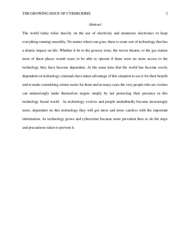 Cyber crime research paper