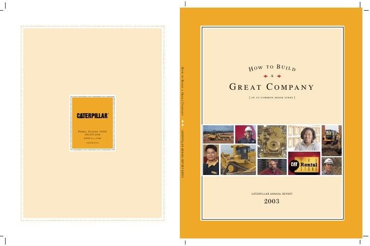2003 Caterpillar Inc. Annual Report