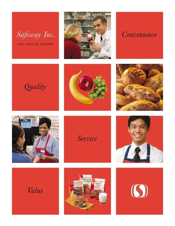 safeway 2002 Annual Report